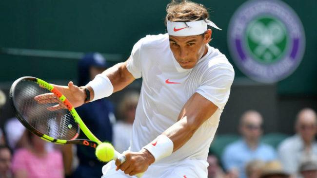 Rafael Nadal, durante su encuentro de tercera ronda en Wimbledon