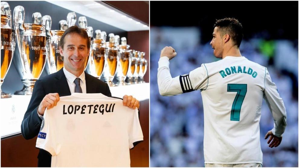 Lopetegui and Cristiano Ronaldo.
