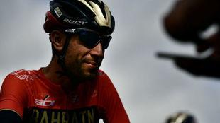 Vincenzo Nibali durante el Tour de Francia.