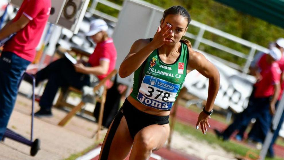Carmen Ramos (20), compitiendo en el Campeonato de España de...