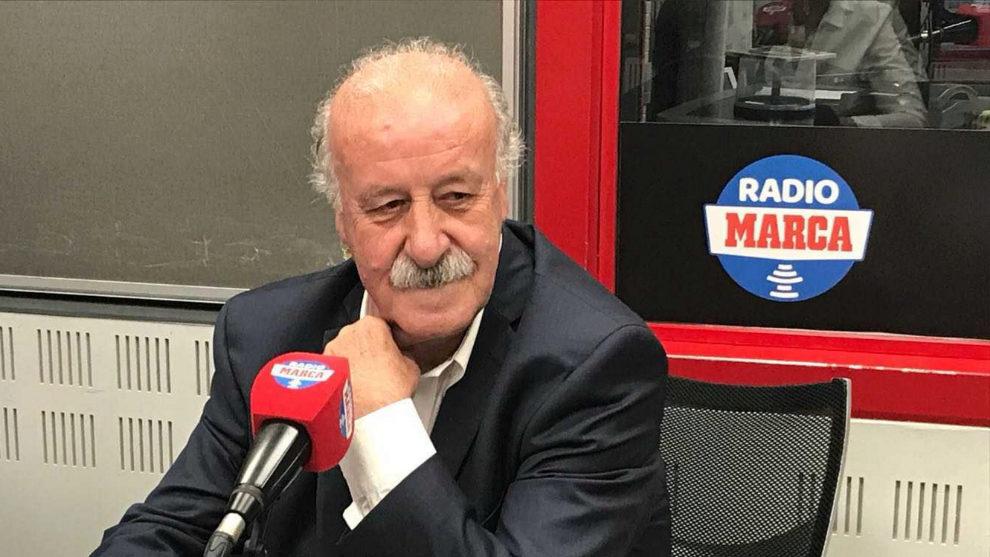 Vicente del Bosque en los estudios de Radio MARCA.