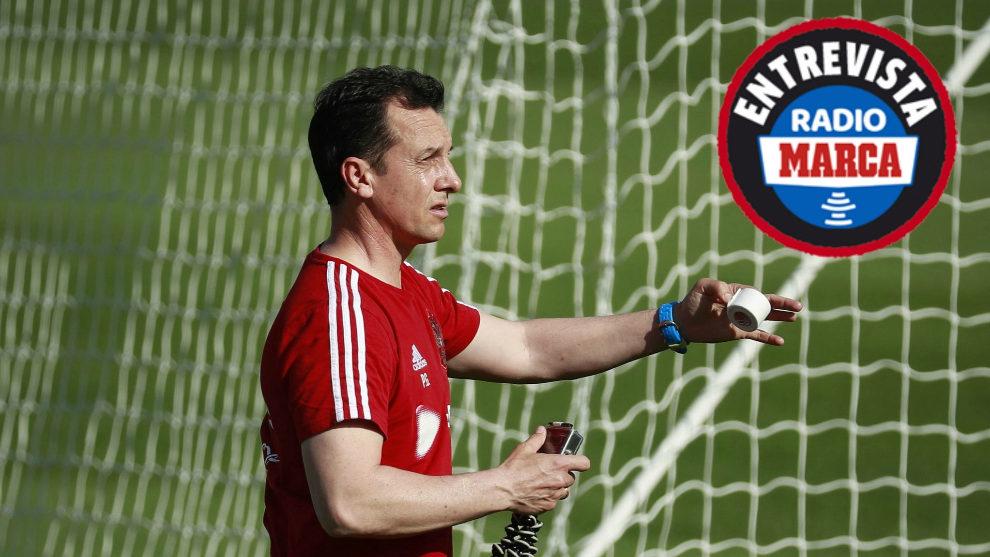 Paulino Granero en un entrenamiento de la selección rusa este...