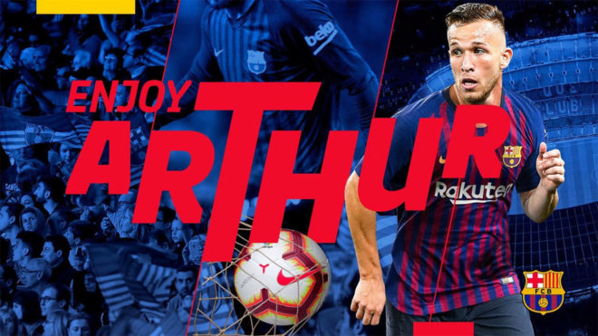 Arthur signed for Barcelona
