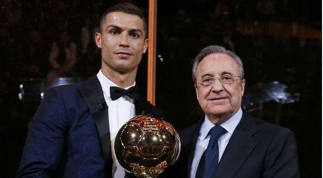 Cristiano Ronaldo y Florentino Pérez, en el último Balón de Oro.