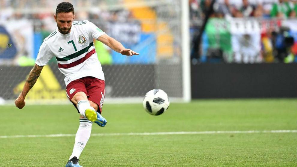 Miguel Layún, en el Mundial de Rusia.