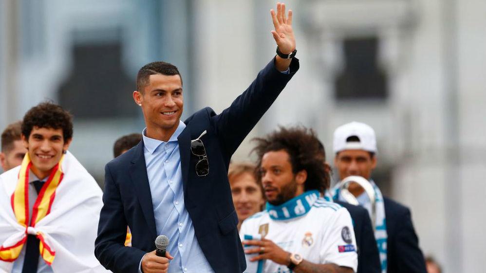 Cristiano Ronaldo, durante la celebración del Madrid de la...