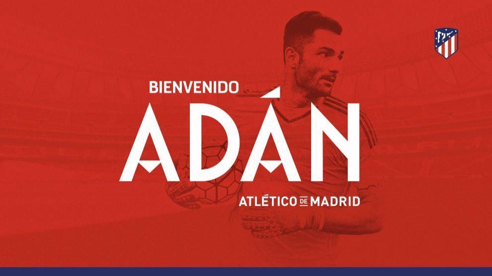 Anuncio del fichaje de Adán