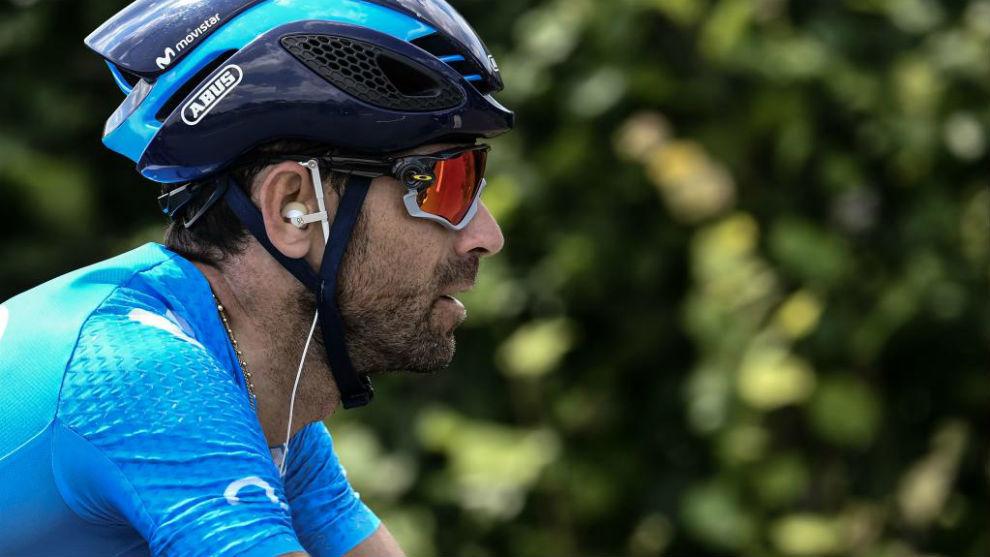 Alejandro Valverde durante el Tour de Francia.