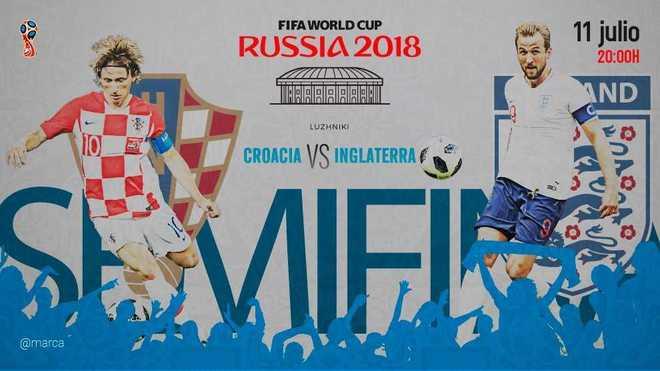 Croacia le dio vuelta a Inglaterra y jugará la final ante Francia