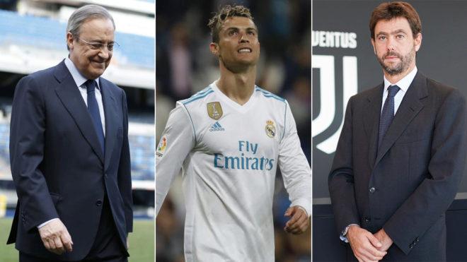 Florentino Perez, Cristiano Ronaldo and Andrea Agnelli