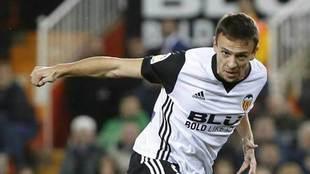 Maksimovic, en un partido con el Valencia.