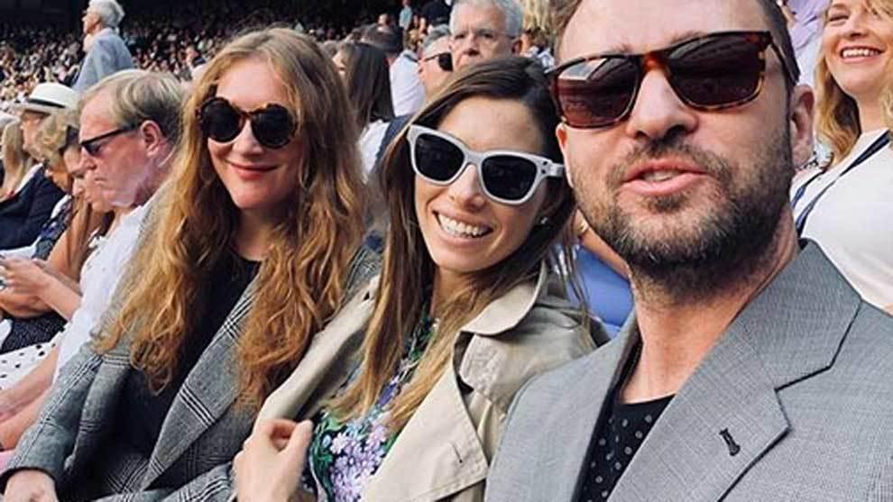 Justin Timberlake y Jessica Biel estuvieron en el All England Lawn...