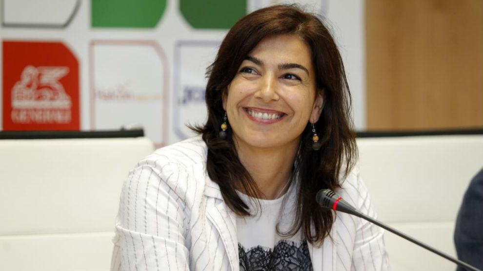 María José Rienda durante un acto en el CSD.