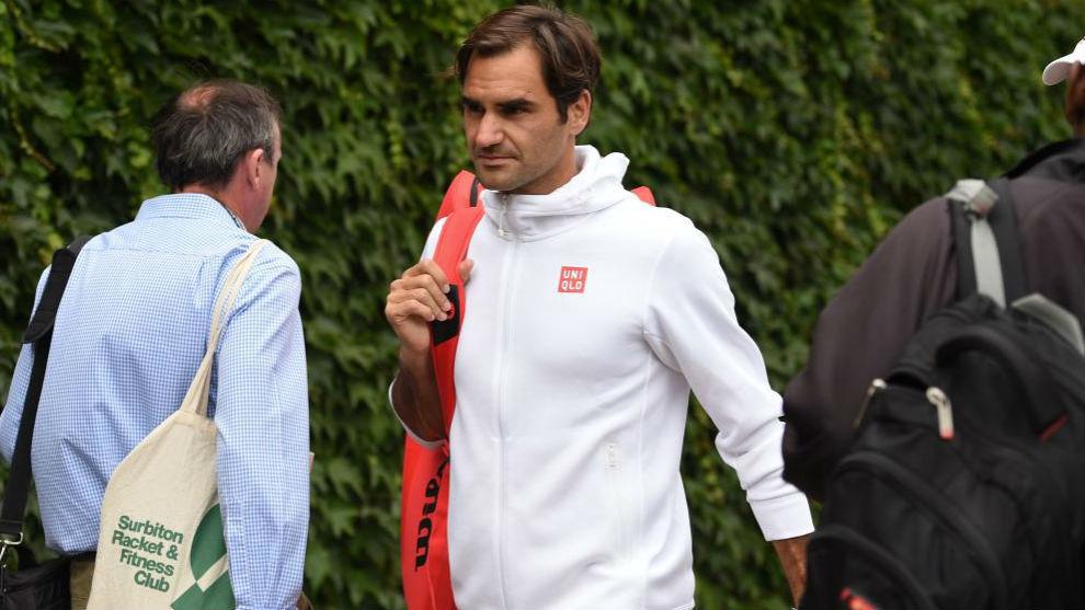 Federer, saiendo de las pistas Aorangi