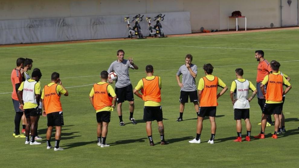 Primer entrenamiento de pretemporada del Albacete.