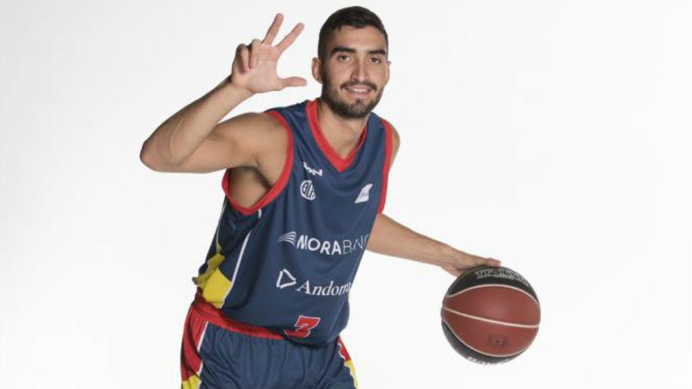 Jaime Fernández, con la camiseta de su ya exequipo el MoraBanc...
