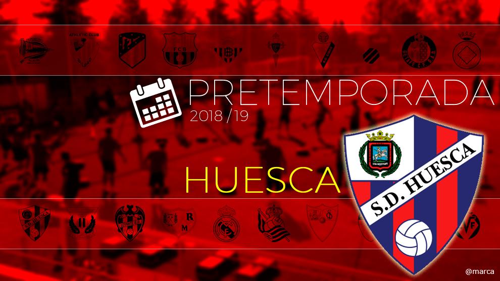 Toda la pretemporada 2018 del Huesca al detalle.