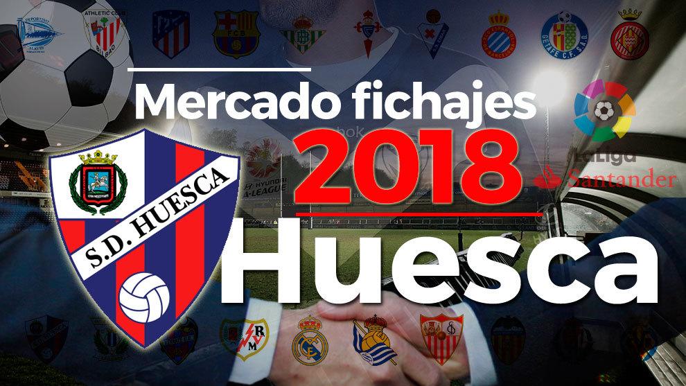 El mercado de fichajes del Huesca al detalle en la temporada 2018-19.