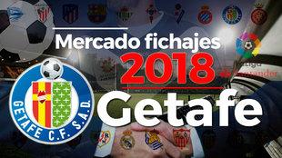 El mercado de fichajes del Getafe al detalle en la temporada 2018-19.
