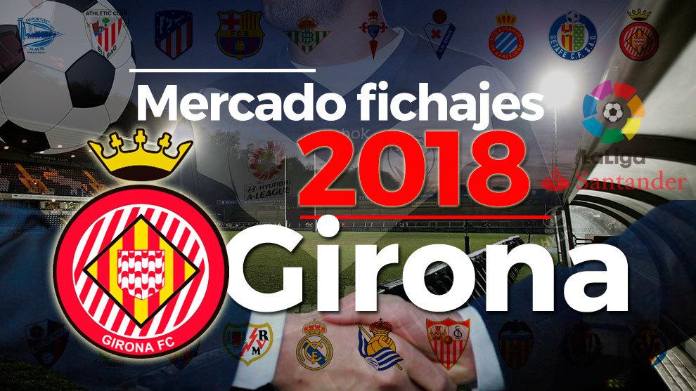 El mercado de fichajes del Girona al detalle en la temporada 2018-19.