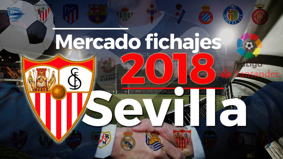 El mercado de fichajes del Sevilla al detalle en la temporada 2018-19.