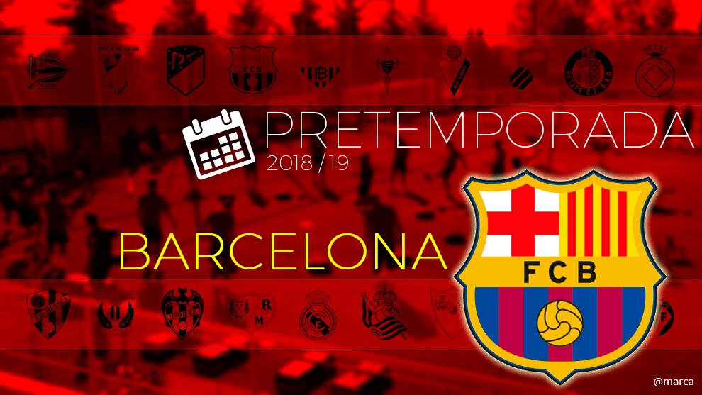 Toda la pretemporada del FC Barcelona al detalle.