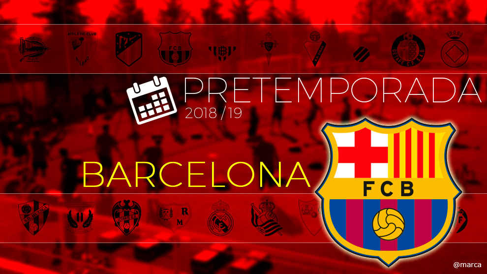 Calendario Del Barcelona.Fc Barcelona Pretemporada Barcelona 2018 Calendario De Partidos