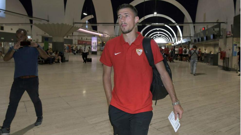 Lenglet, con el Sevilla.