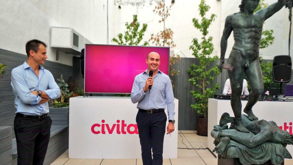 Alberto Gutiérrez (CEO) y Enrique Espinel, director de operaciones de...