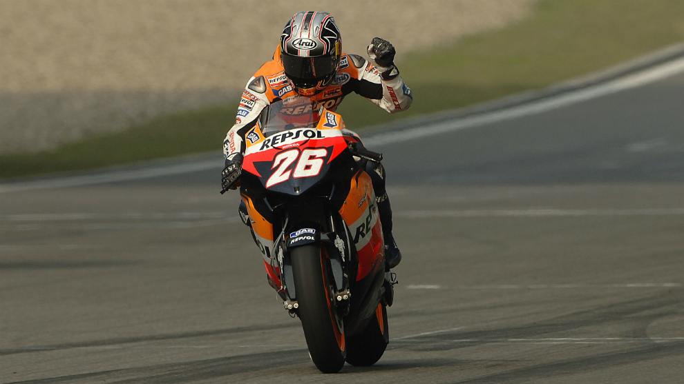 Pedrosa ganó por primera vez en MotoGP en China 2006.