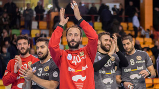 Los jugadores del Cuenca celebran la histórica quinta plaza