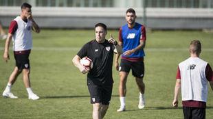 Berizzo, durante un entrenamiento con el Athletic esta pretemporada.