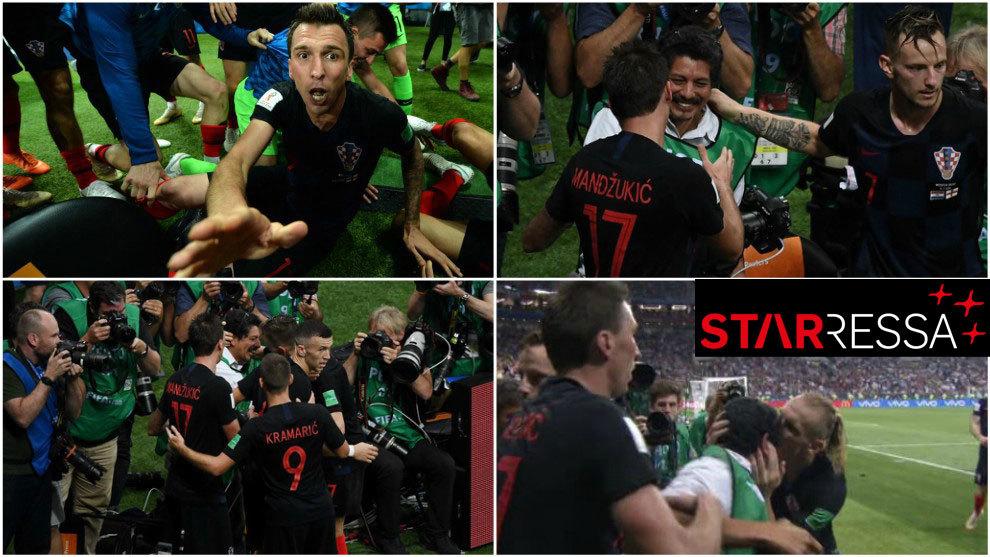 Las mejores postales del fotógrafo 'aplastado' por jugadores de Croacia