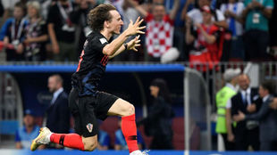 Modric celebra la clasificación de Croacia