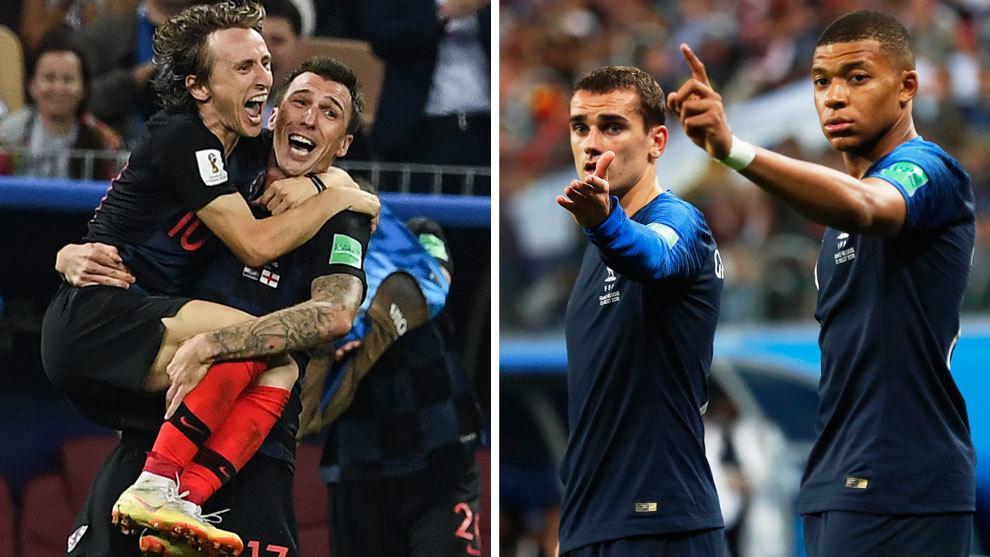 Luka Modric y Mandzucic  vs Griezmann y Mbappé: protagonistas de la...