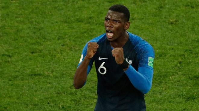 Pogba celebra el triunfo de Francia.