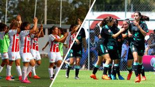 Necaxa Femenil y Santos Femenil inauguran el torneo.