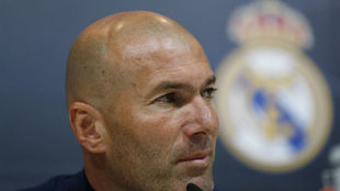 Zinedine Zidane, en la rueda de prensa de su despedida.