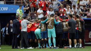 España en el partido de octavos del Mundial de Rusia