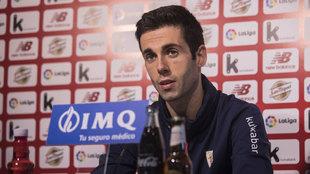 El capitán de los bilbaínos pasó revista a la actualidad del club.