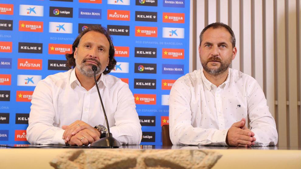 Rufete y Perarnau, durante la presentación en Olot.