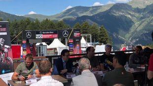 Detalle de la presentación de la prueba de Copa del Mundo de MTB en...