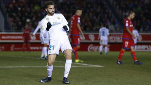 Myoral celebrate his goal against Numancia in Copa del Rey in December