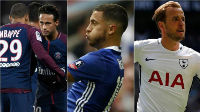 Mbappe, Neymar, Hazard, Kane.