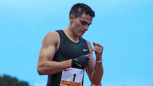 Bruno Hortelano, tras volar en el 200 de este miércoles en Barcelona