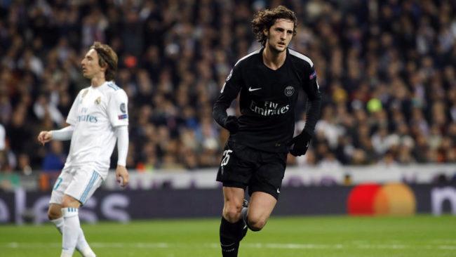 El centrocampista del PSG, Adrien Rabiot, a punto de llegar al...