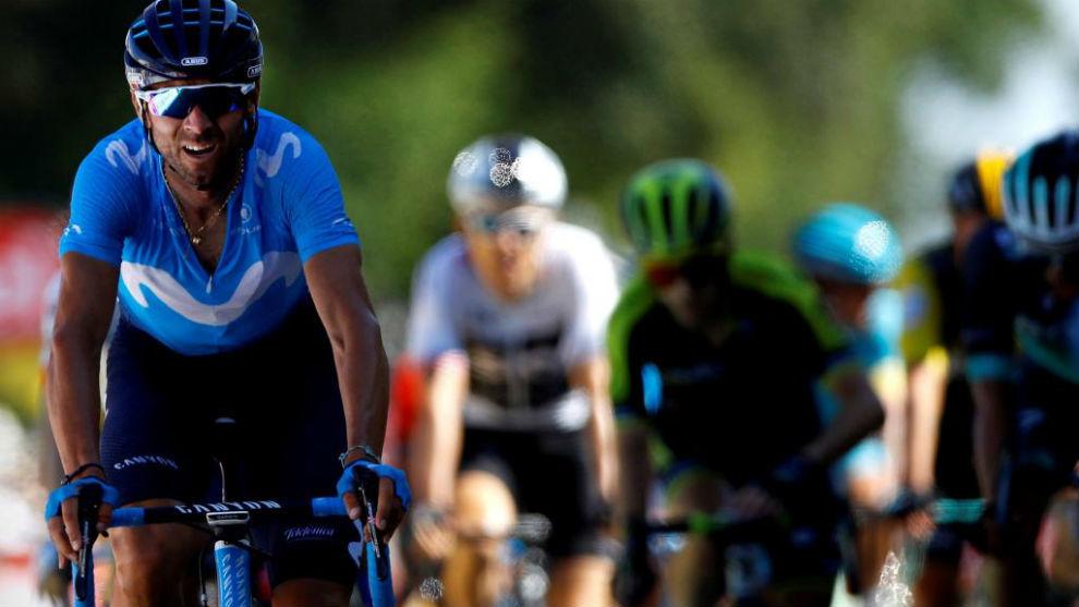 Valverde durante la sexta etapa del Tour de Francia.