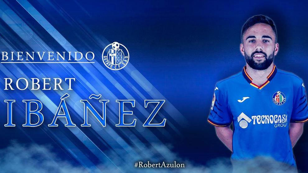 Robert Ibañez como nuevo jugador del Getafe. Foto: @GetafeCF