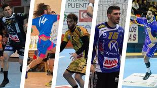 Curro Muñoz, Jesús Hoyos, Nacho Moya, Jorge Oliva y Agustín Vidal