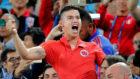 James celebra uno de los goles de Colombia en el Mundial de Rusia.